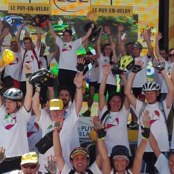 La Team DAHLIR : 1ère arrivée sur l'étape du Tour de France au Puy en Velay