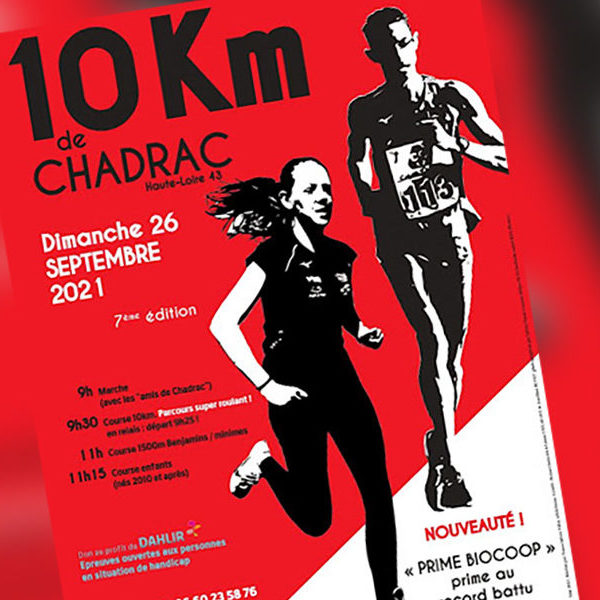 Rendez-vous : 7ème édition des 10km de Chadrac, une course ouverte à tous